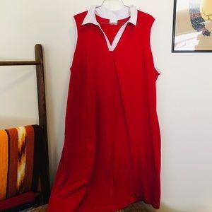 Vintage polo neck shift dress